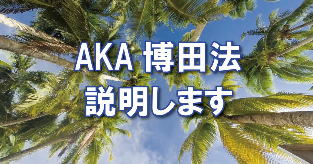 AKA博田法の説明